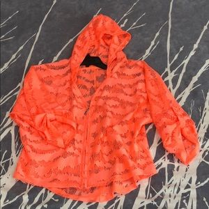 Bright Coral hooded top!